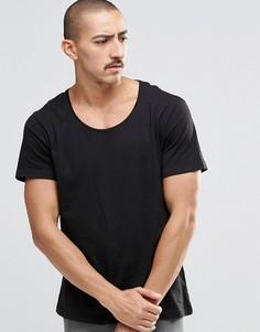 Черная футболка Weekday Daniel - Черный
