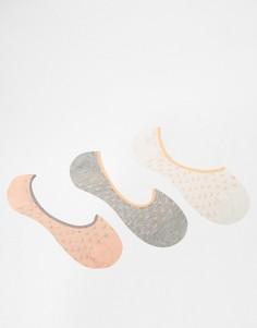 3 пары носков в кремовые сердечки Penguin - Кремовый