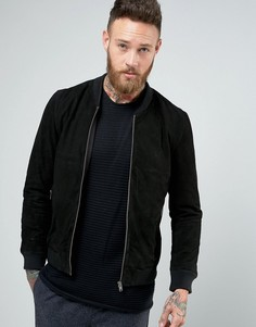 Замшевая куртка-пилот Selected Homme - Черный