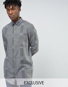 Серая длинная фланелевая рубашка в клетку Cheap Monday - Серый