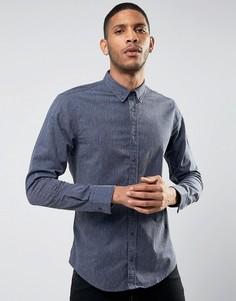 Рубашка в крапинку на пуговицах BOSS Orange By Hugo Boss Edipoe - Темно-синий