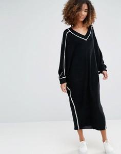 Платье с контрастной отделкой Shae Dolman Shadow - Черный