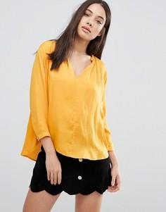 Блузка без воротника d.RA Lucienne - Желтый
