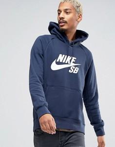 Темно-синее худи Nike SB Icon 846886-451 - Темно-синий