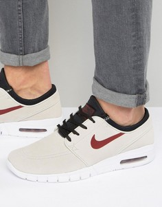 Бежевые кроссовки Nike SB Stefan Janoski Max L 685299-060 - Бежевый