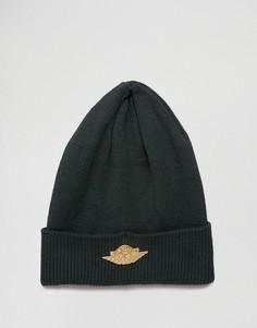 Зеленая шапка-бини Nike Jordan Jumpman 801770-327 - Зеленый