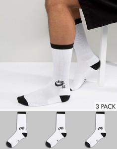 3 пары белых носков Nike SB SX5865-101 - Белый
