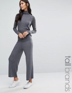 Широкие вязаные брюки Y.A.S Tall - Серый