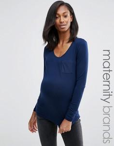 Лонгслив для беременных Mamalicious Maternity - Темно-синий Mama.Licious