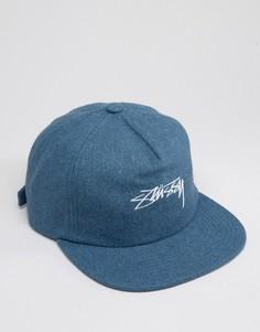 Полушерстяная кепка Stussy - Синий