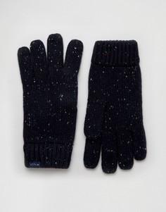 Темно-синие перчатки из овечьей шерсти Jack Wills - Темно-синий