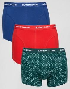 3 пары боксеров-брифов Bjorn Borg - Зеленый