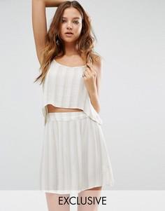 Двухслойное пляжное платье в полоску Akasa - Мульти