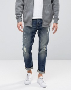 Классические джинсы с рваной отделкой United Colors of Benetton - Синий