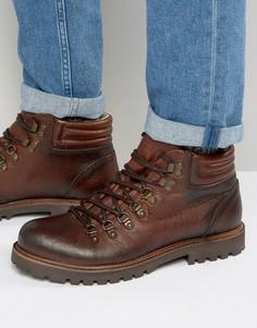 Кожаные ботинки со шнуровкой Shoe The Bear Russ - Коричневый