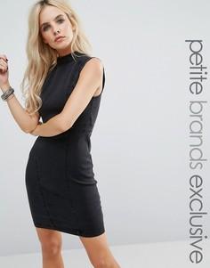 Джинсовое облегающее платье без рукавов Noisy May Petite - Черный