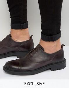Оксфордские туфли Walk London Manor - Черный
