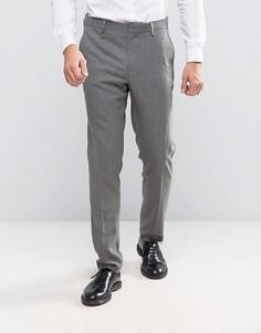 Серые фактурные зауженные брюки ASOS - Серый