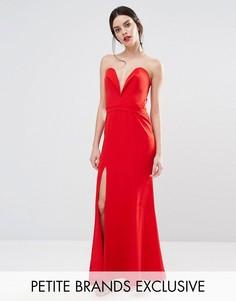 Платье макси с глубоким вырезом сердечком спереди Jarlo Petite Helena - Красный