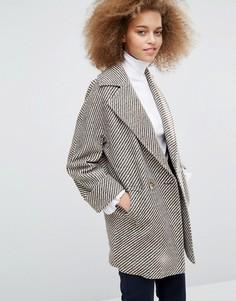 Коричнево-кремовое пальто Helene Berman Tessa - Мульти