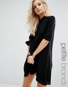 Асимметричное платье-рубашка Noisy May Petite Debby - Черный