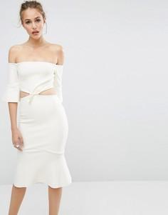 Платье с открытыми плечами Bec & Bridge Gardenia - Белый