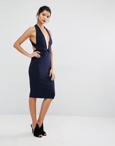 Платье с лямкой через шею Bec & Bridge Winkworth - Темно-синий