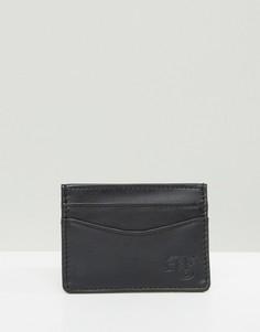 Черная кожаная кредитница Abercrombie & Fitch - Черный