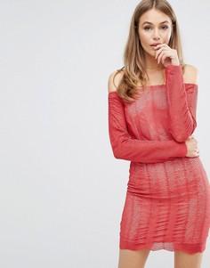 Кружевное платье Keepsake Think Twice - Красный