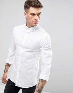 Облегающая рубашка с длинными рукавами 11 Degrees - Белый
