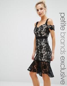 Кружевное платье с открытыми плечами Paper Dolls Petite - Черный