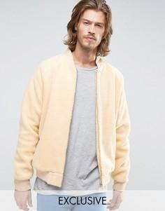 Куртка-пилот с отделкой борг Reclaimed Vintage - Stone