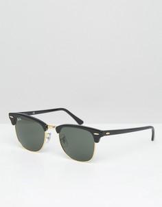 Солнцезащитные очки-клабмастеры Ray-Ban 0RB3016 - Черный