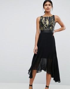 Жаккардовое платье c плиссированной юбкой Coast - Мульти
