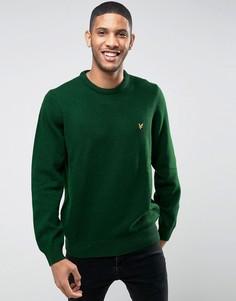 Зеленый джемпер из овечьей шерсти Lyle & Scott - Зеленый