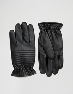 Черные кожаные перчатки в байкерском стиле Barneys - Черный Barneys Originals
