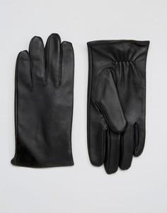 Черные кожаные перчатки Barneys Classic - Черный Barneys Originals