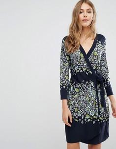 Платье с запахом и принтом BCBG MAXAZRIA - Мульти