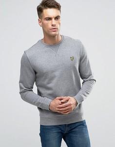 Серый меланжевый свитшот с логотипом Lyle & Scott - Серый