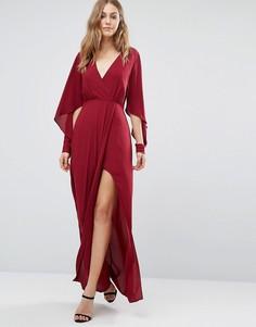Платье макси с запахом BCBG Max Azria - Фиолетовый