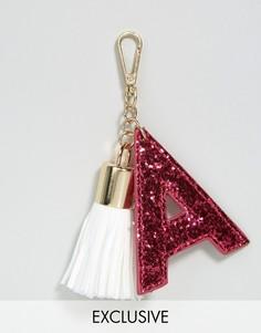 Брелок для ключей с буквой A Skinnydip - Мульти