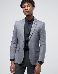 Деловой фактурный пиджак Penguin - Темно-синий