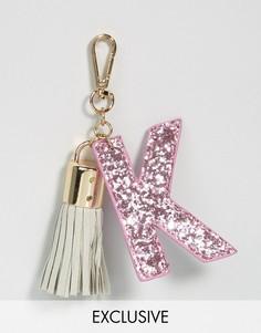 Брелок для ключей с буквой K Skinnydip - Мульти