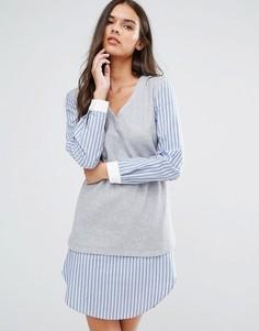 Платье-рубашка 2‑в‑1 Sisley - Серый