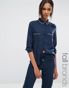 Рубашка с окантовкой Vero Moda Tall - Темно-синий
