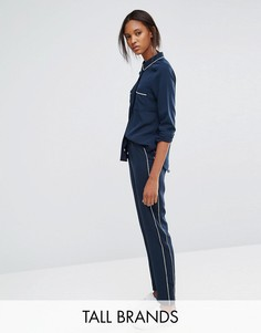 Джоггеры с окантовкой Vero Moda Tall - Темно-синий