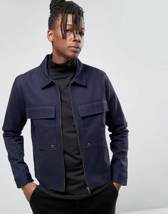 Куртка в стиле милитари с большими карманами Only & Sons - Темно-синий