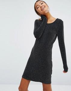 Облегающее платье с блестками Monki - Черный