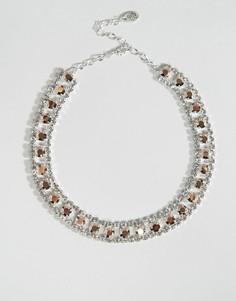Ожерелье с кристаллами Swarovski от Krystal - Золотой
