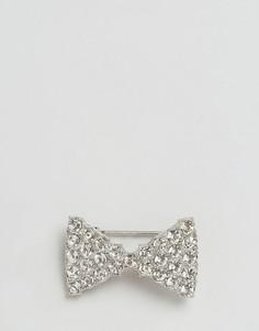 Булавка для воротника в виде галстука-бабочки DesignB London - Серебряный